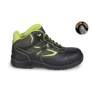 7221PEK Leather ankle shoe, water-repellent, with nylon inserts, anti-abrasion reinforcement in toe cap area and quick opening system