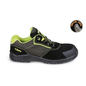 7223PEK Suede shoe with highly breathable mesh inserts and anti-abrasion reinforcement in toe cap area