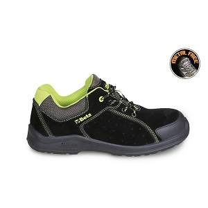7224PEK Suede shoe, perforated, with anti-abrasion reinforcement in toe cap area