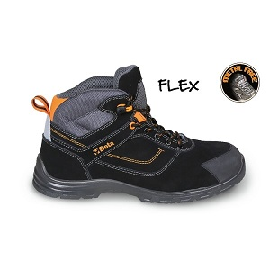 7218FN Action nubuck ankle shoe, water-repellent, with anti-abrasion insert in toe cap area and quick opening system