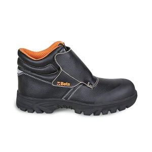 """7310CRK Lace-up black leather shoe, """"welder"""" style"""