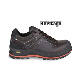 7293HM Greased full-grain leather shoe with high-performance VIBRAM® rubber tread, anti-abrasion insert on heel area and reinforcement polyurethane toe cap cover