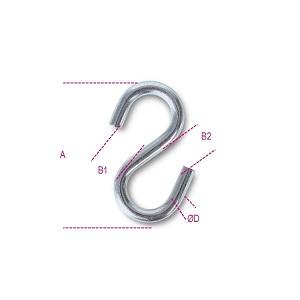 8282S S-hooks, symmetric AISI 316