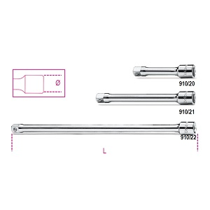 """910/20 - 910/21 - 910/22 3/8"""" drive extension bars"""