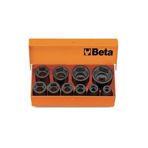 "710/C10 Sets of 3/8"" metric impact sockets, hexagon ends"