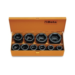 """728/C10 Sets of 3/4"""" impact sockets, hexagon ends"""