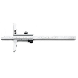 1656 Depth gauge, made from hardened stainless steel, in sheath