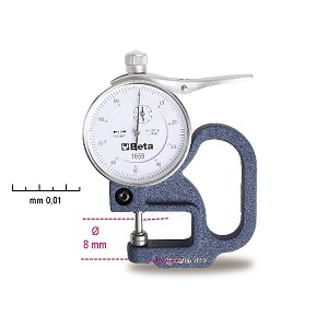 1659 Thickness gauge with dial indicator