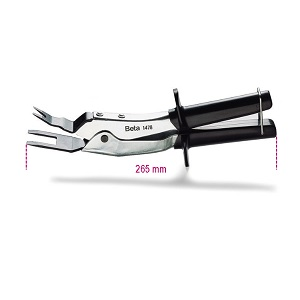 1478 Pin removing pliers, chrome-plated, pvc-coated handles