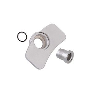 1471M/P Worn disc brake pad and TRW-Megane caliper adaptors