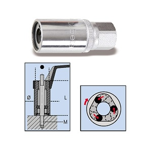 """1433 Roller stud extractors with 1/2"""" square drives"""
