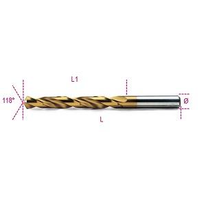 414 Twist drills, short series. hss-titanium nitride