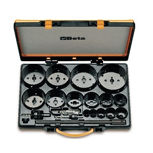 450/C21 Assortment of holesaws and accessories for industrial use