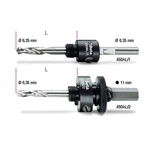 450AL Arbors for holesaws with centre drill