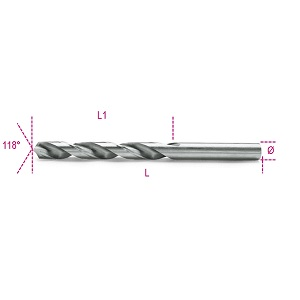 412 Twist drills, short series, glossy finish