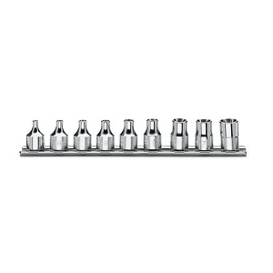 "910FTX/SB9 Sets of sockets for torx® head screws, 3/8"" female square drive"