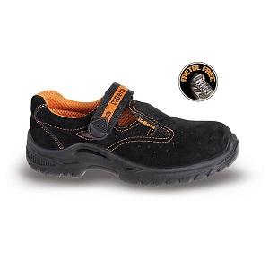 7216BKK Soft suede sandal