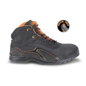7350RP Ankle shoe made of Nubuck crust leather, waterproof with rubber outsole and soft PU ring