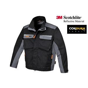 7829 Work jacket twisted T/C canvas Black/Grey