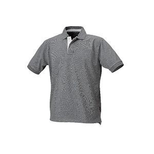 7546G Three button polo shirt, pique cotton Grey