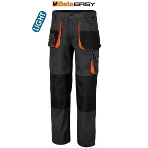 7860E Work trousers in t/c twill, 180 g,  with t/c ripstop insets, grey