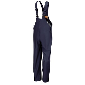 7973 BLU Waterproof, pvc tricot overalls, blue