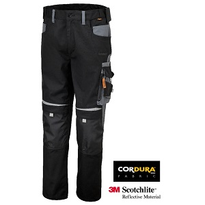 7820 Work trousers twisted T/C canvas Black/Grey