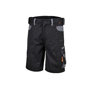 7821 Work Bermuda shorts, twisted T/C canvas Black/Grey