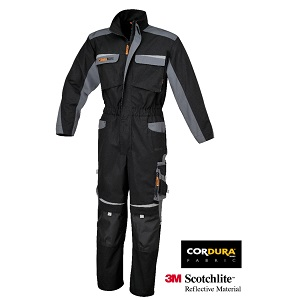 7825 Work overalls twisted T/C canvas Black/Grey