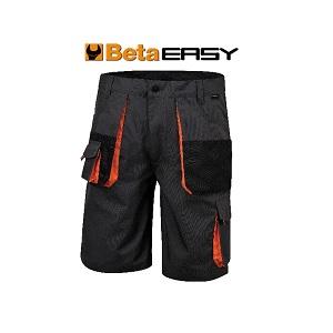7901E Work Bermuda shorts in T/C canvas Grey