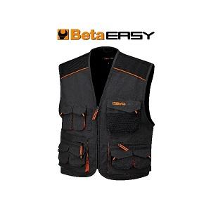7907E Sleeveless work jacket multipocket style Grey