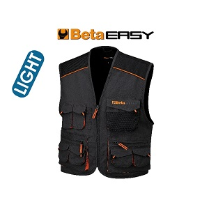 7867E Sleeveless work jacket, multipocket style, lightweight