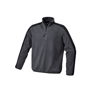 7632G Fleece pullover with polyester inserts