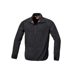 7635N Microfleece sweater, short-zipped