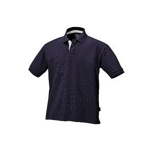 7546BL Three button polo shirt, pique cotton Blue