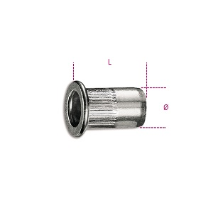 1742R-AL/M Threaded aluminium rivets for item 1742