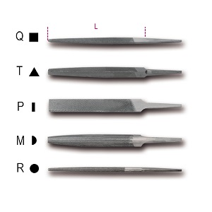 """1718A/6 6"""" second cut files, without handles"""