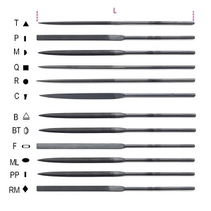 1720 Needle files for professional use