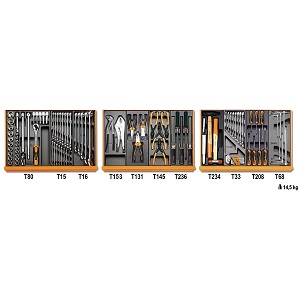 5904VI/1T Assortment of 98 tools for industrilal maintenance