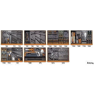 5908VI/2T Assortment of 232 tools for industrial maintenance