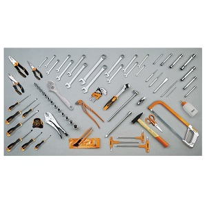 5915VU/3 Assortment of 74 tools for universal use