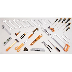 5980ID Assortment of 35 tools for plumbing maintenance