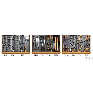 5904VG/3 Assortment of 132 tools for car repair