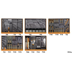 5904VG/5T Assortment of 160 tools for car repairs