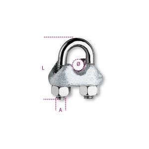 8018E Wire rope clip, galvanized (enel 2632a)