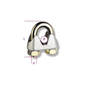 8018T Wire rope clip, galvanized (telecom 02076-8)