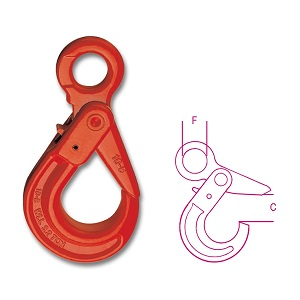 8057 Self-locking eye hooks, made from alloy steel, hardened and tempered