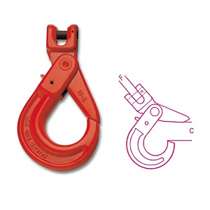 8058 Self-locking clevis hooks, made from alloy steel, hardened and tempered