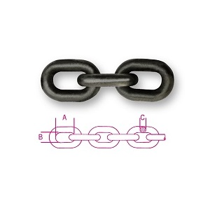 8100 Chains - grade 80, alloy steel, hardened and temepred steel, self-coloured