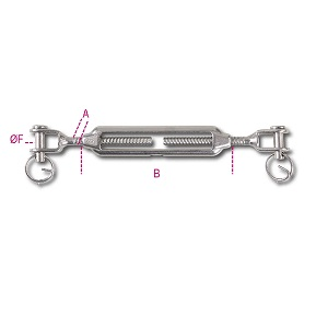 8209 Jaw and jaw turnbuckle AISI 316